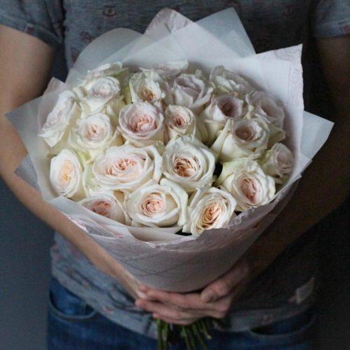 Ароматные пионовидные розы с бесплатной доставкой в москве
